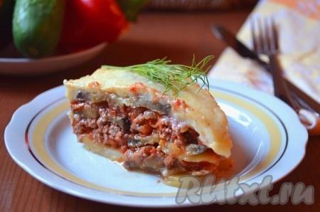 Вкусная, сытная, очень сочная и ароматная мусака по-гречески готова. Рецепт прост, а результат вас непременно порадует!