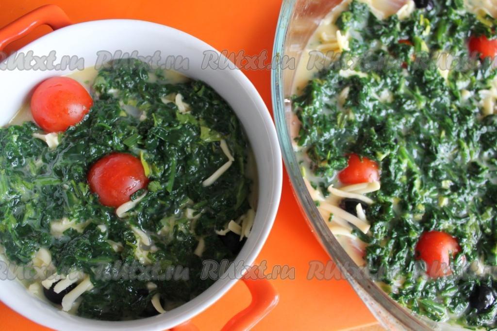 Кефаль со шпинатом  рецепт приготовления