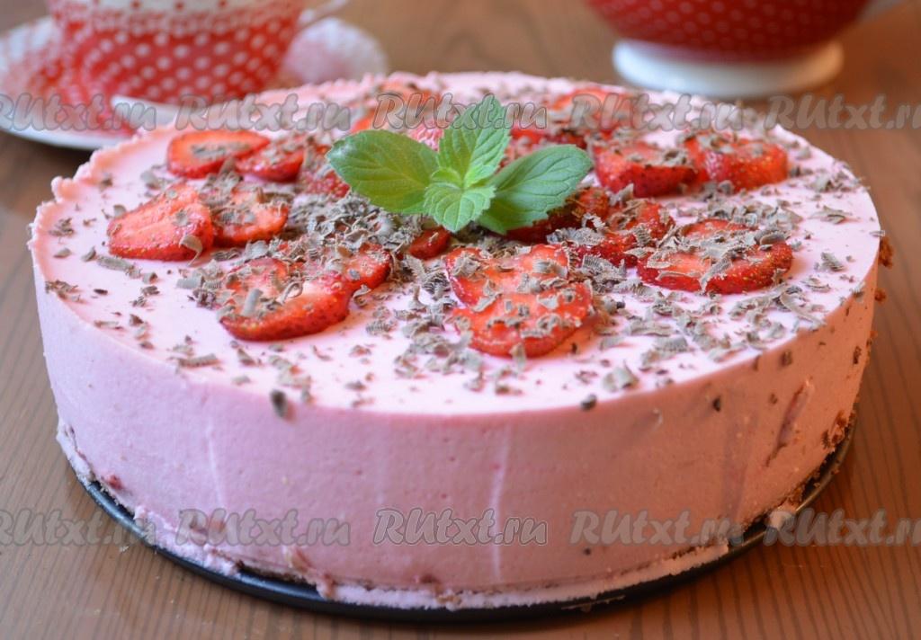 Торт из клубники и печенья