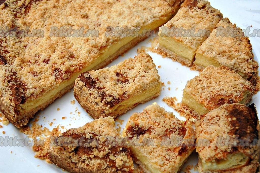 Пирог из творога с крошкой рецепт с пошагово в