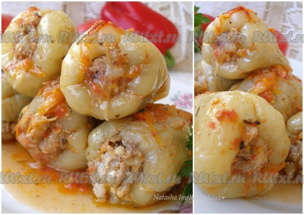 рецепт вкусного фаршированного перца с мясом и рисом