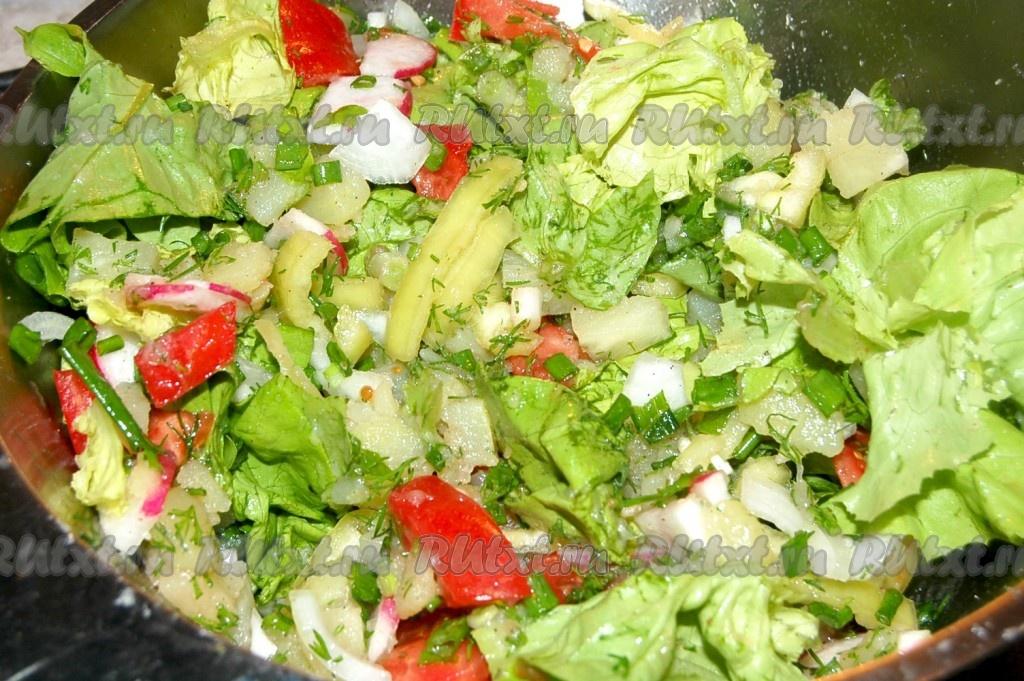 салат каприз с картошкой рецепт с фото