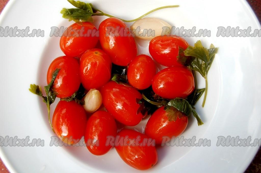 Маринованные помидоры черри консервация на зиму рецепт с