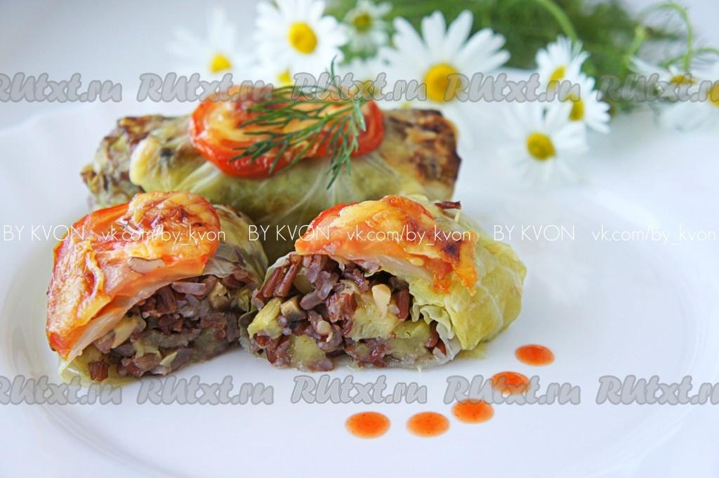 голубцы с рисом и овощами рецепт