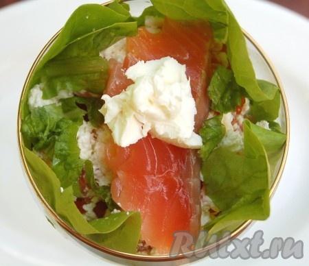 Рецепты салатов с сёмгой и икрой с
