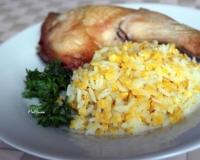 как приготовить вкусно рис на гарнир к рыбе