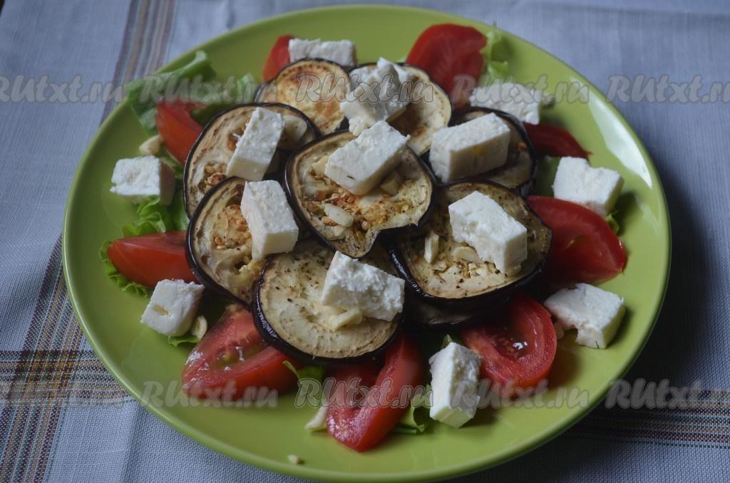 рецепт салата с баклажанами и чесноком