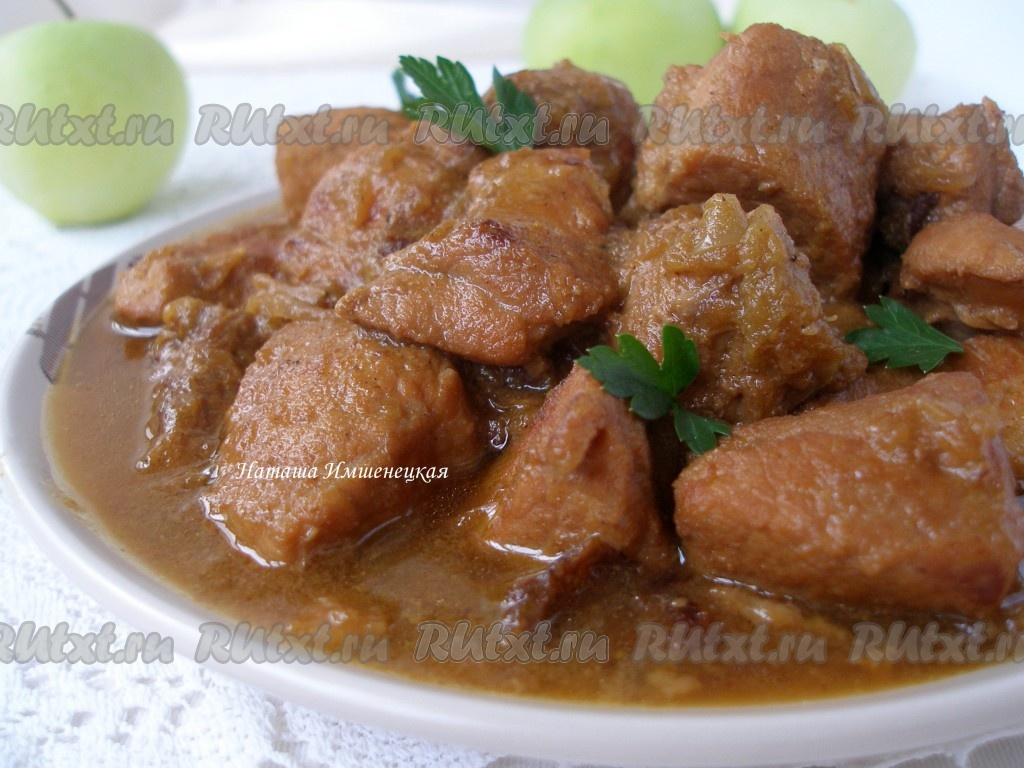 Рецепты тушеного мяса свинины