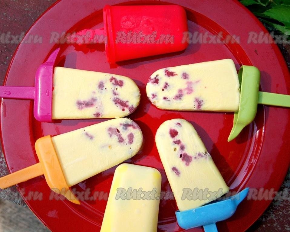 Сделать мороженое в домашних условиях в формочках