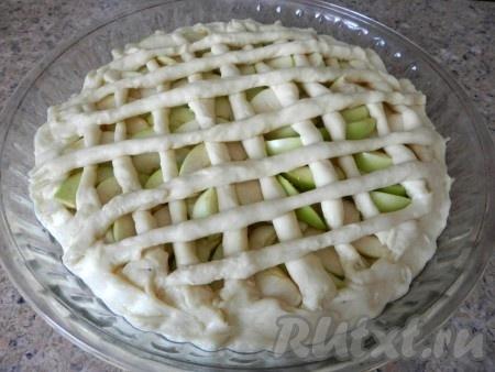 пирог с яблоками в виде розочек