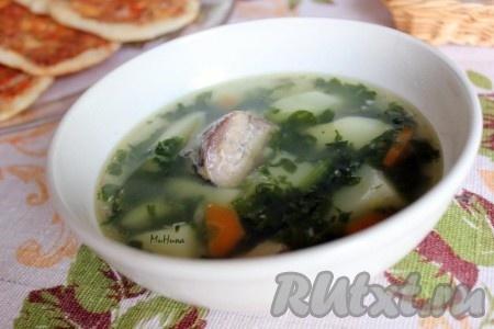 Рецепт супа из рыбных консервов с гречкой