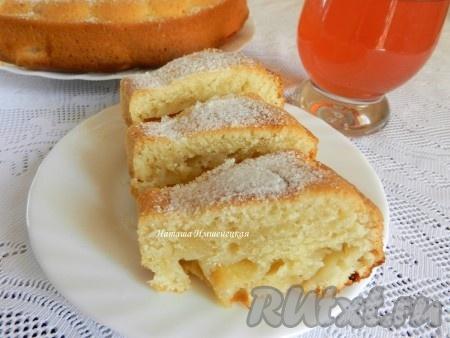 Рецепты пироги на сковороде с яблоками