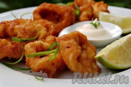 кольца кальмара в кляре рецепт с фото пошагово хрустящие