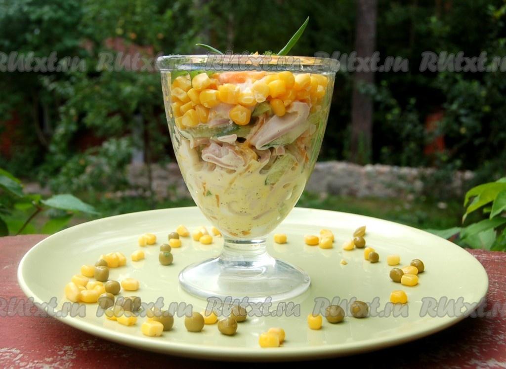 салат из кальмаров и огурцов рецепт с фото