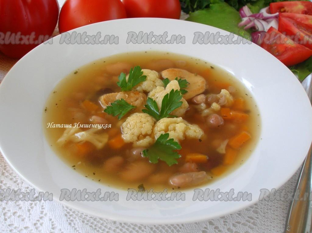 рецепт супа с фасолью и плавленным сыром