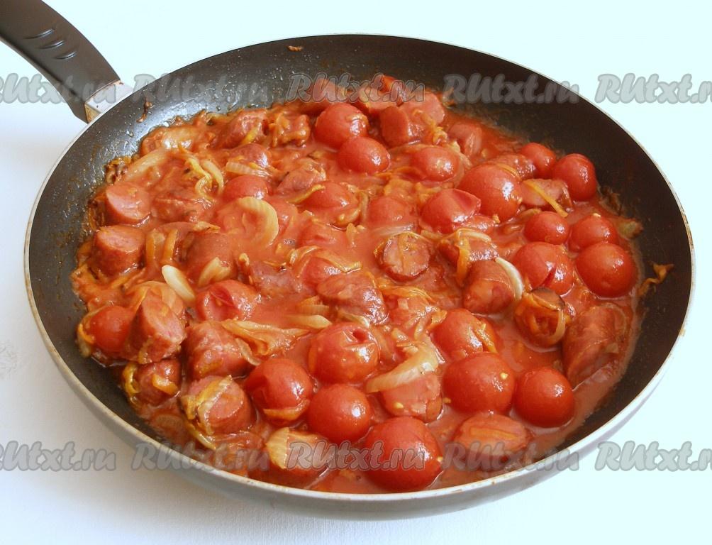 Колбаски в томатном соусе рецепт