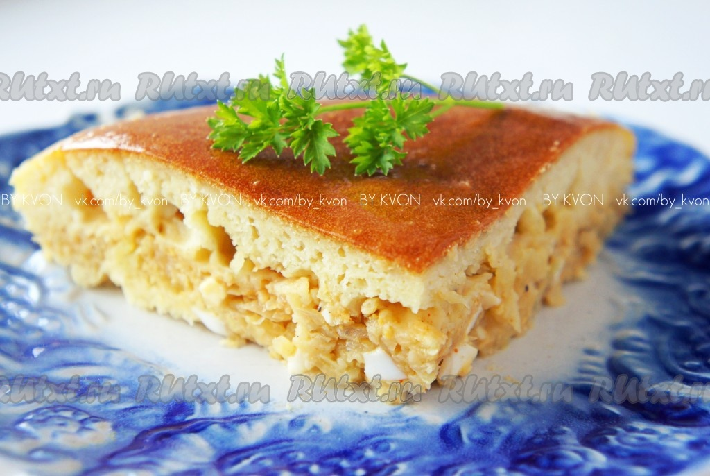 рецепт пирога с капустой на кефире в мультиварке