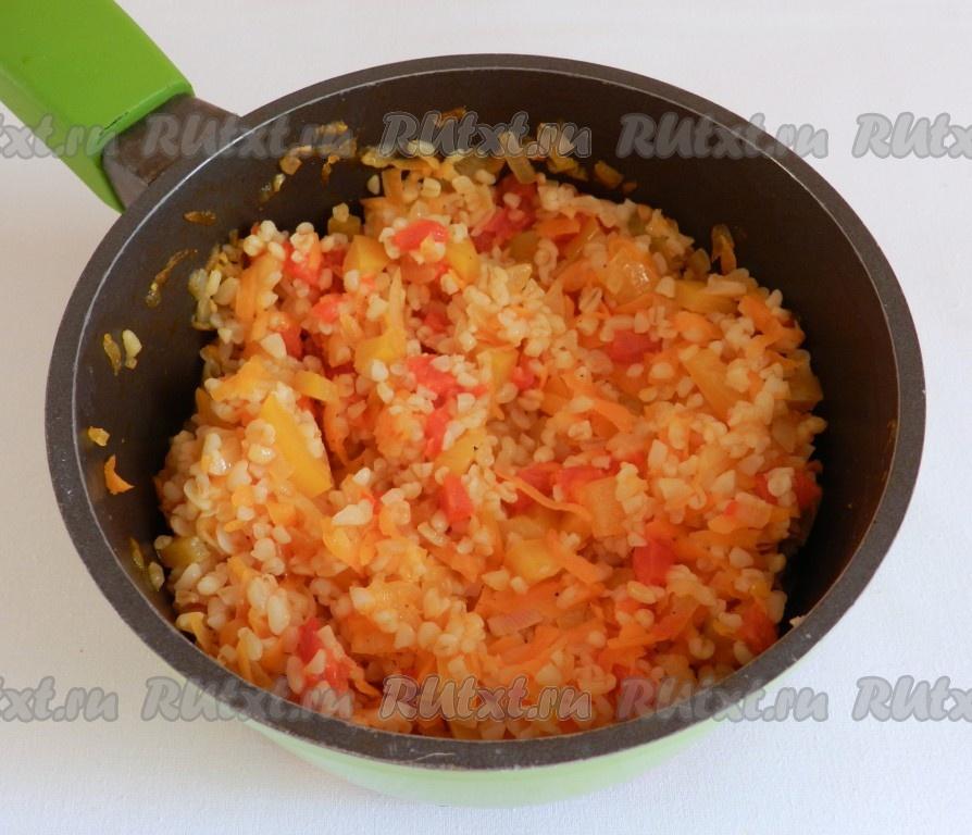 Гарнир к фаршированным перцам рецепт с фото