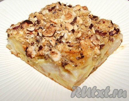 Сочный пирог с яблоками и грушами