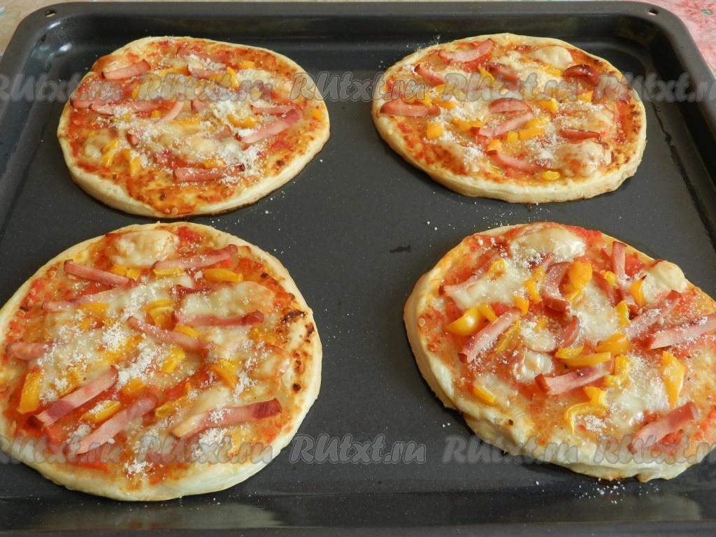 пицца в духовке из готового теста рецепт с фото
