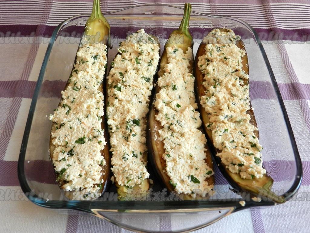 баклажаны в духовке с начинкой рецепты