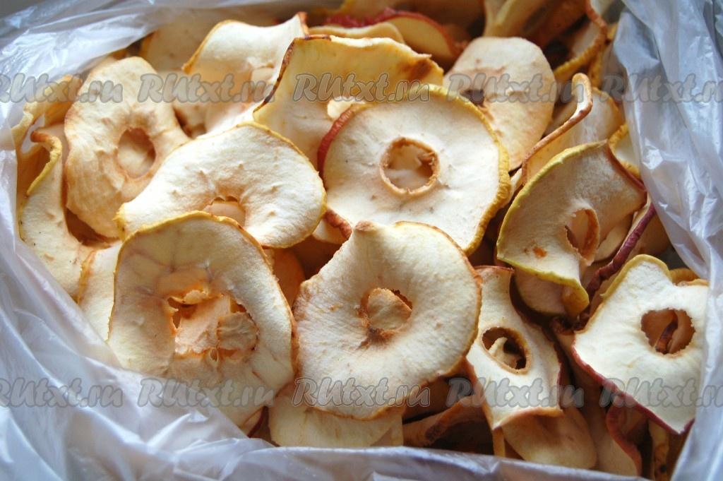 рецепт сушить яблоки в духовке электрической