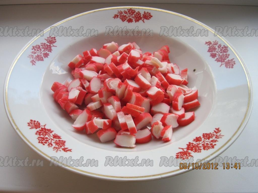 рецепт салата крабовые палочки и огурец