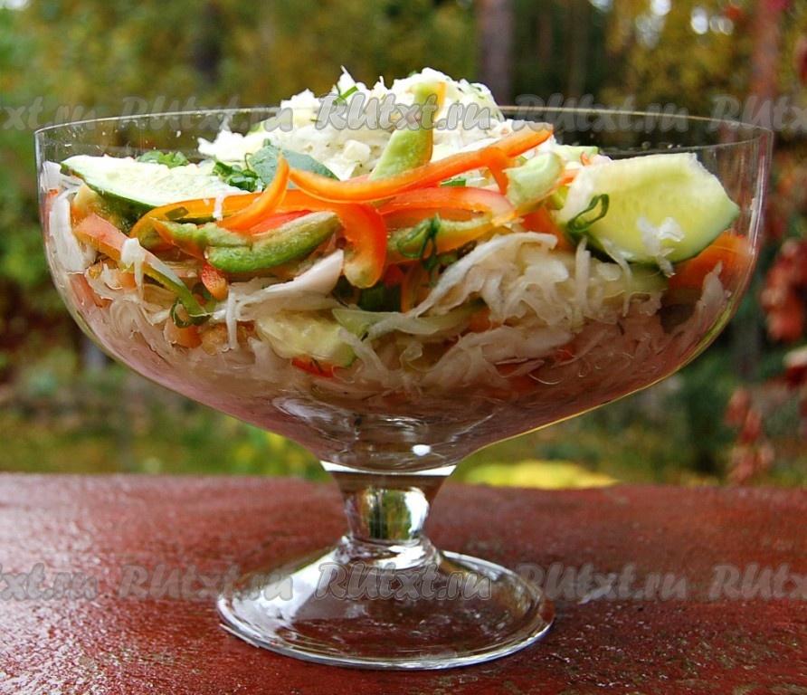 легкие салаты со свежей капустой рецепты