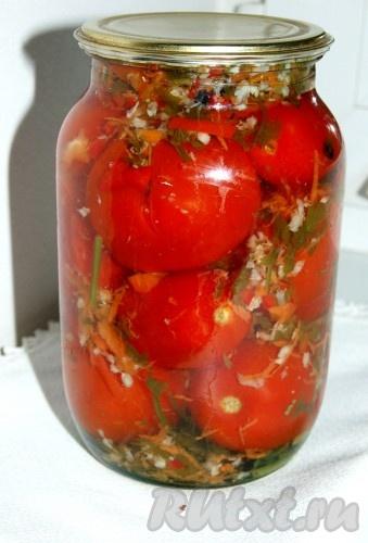 Фаршированные соленые помидоры