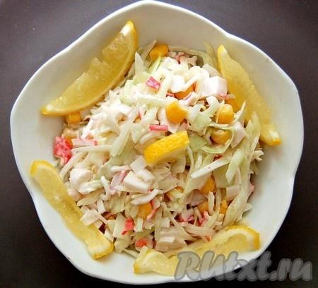 рецепт салат крабовые палочки с капустой рецепт