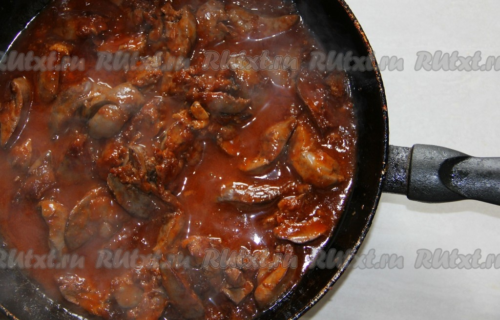 Печенка говяжья тушеная рецепты с фото