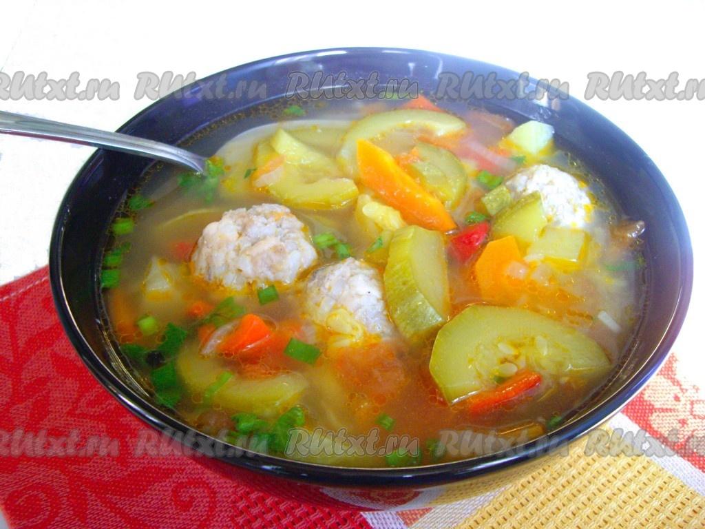как приготовить суп с фрикаделькеми и с кабачками