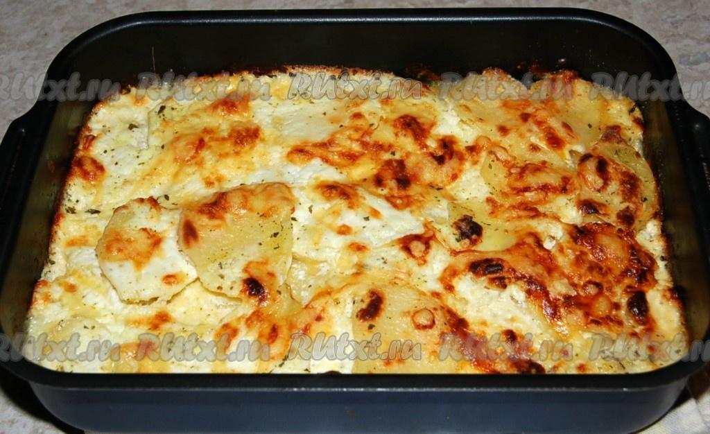 Картошка в духовке с сметаной и чесноком рецепт с пошагово