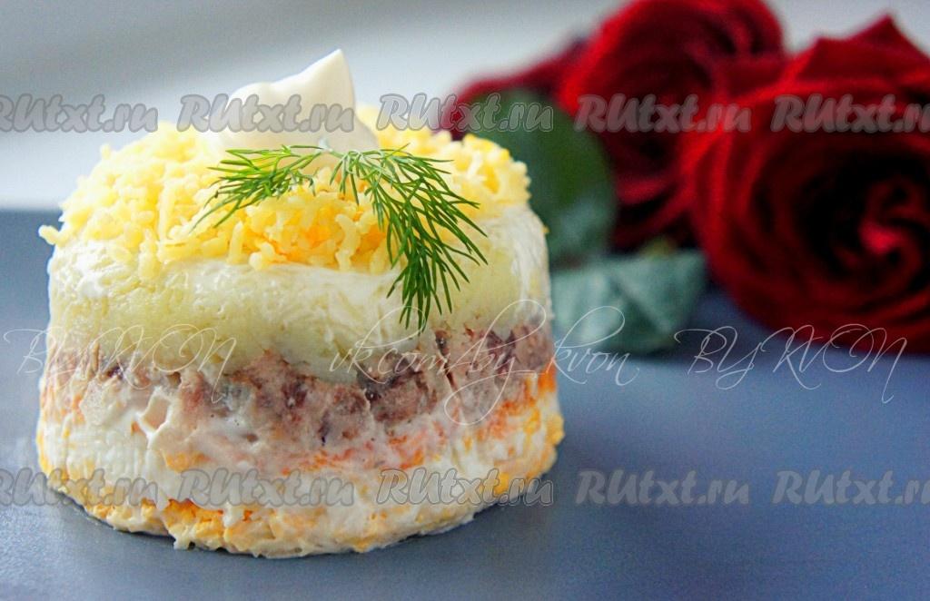 рецепт салата мимоза вкусный рецепт