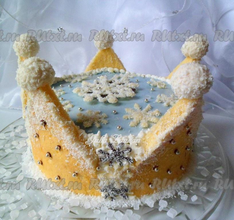 Фото рецепт торта снежная королева