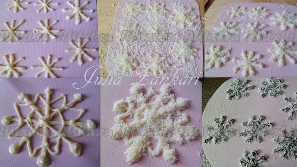 Снежинки на торт сделать Бисквитный торт от 1001 ЕДА