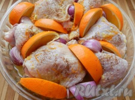 рецепт курицы в апельсиновом соусе в духовке рецепт