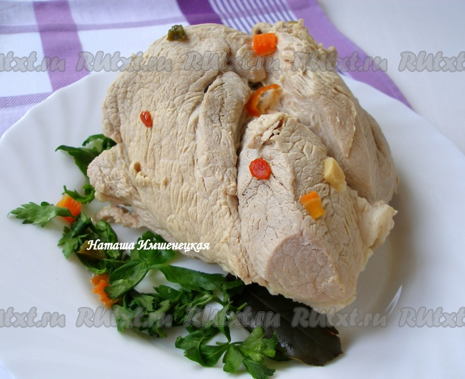 Блюда из отварной свинины
