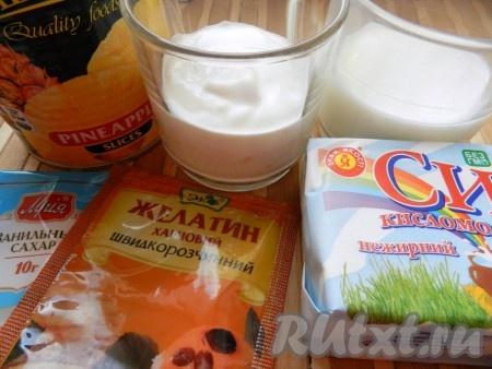 Ингредиенты для приготовления бланманже творожного