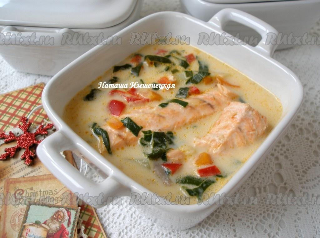 Сырный суп с форелью рецепт