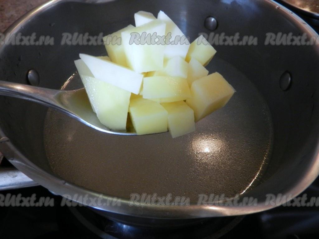 сырный суп из лосося рецепт с фото