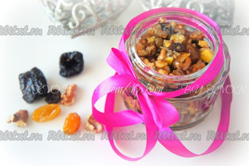 Рецепт витаминной смеси из орехов и сухофруктов