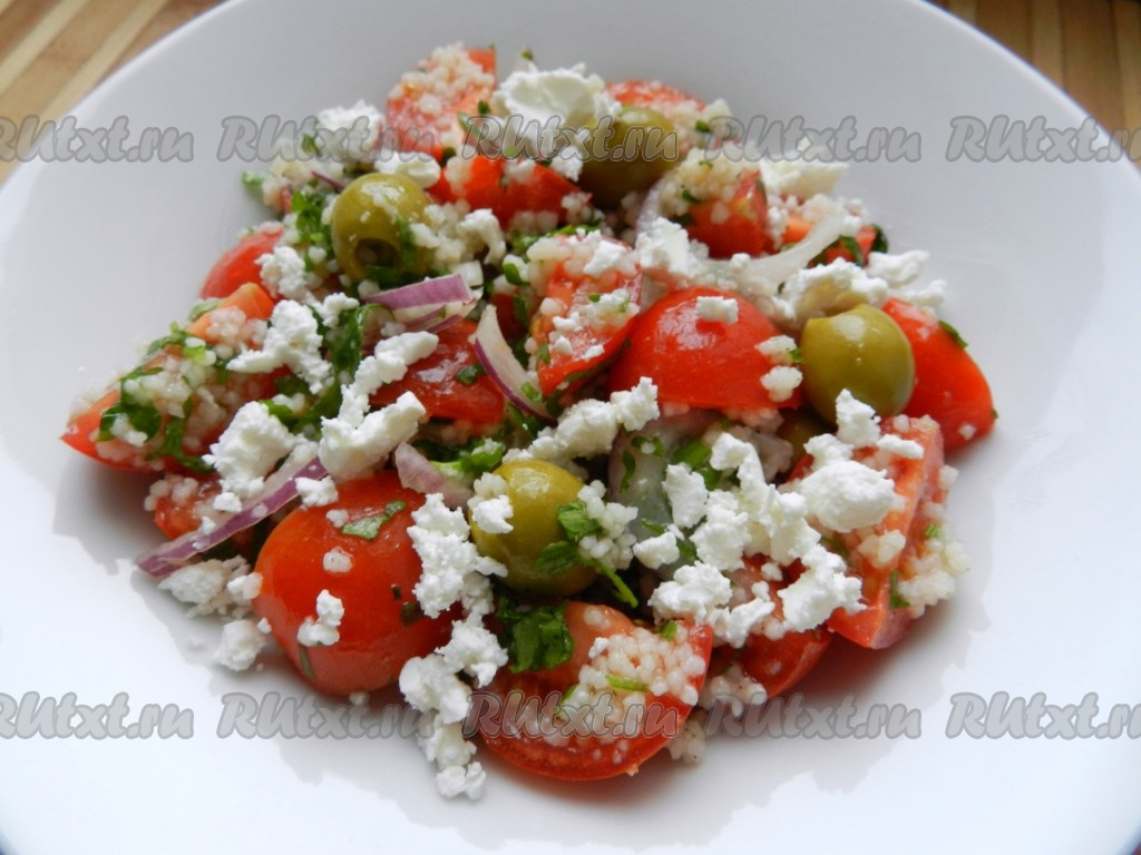 рецепт салата с кускусом и авокадо