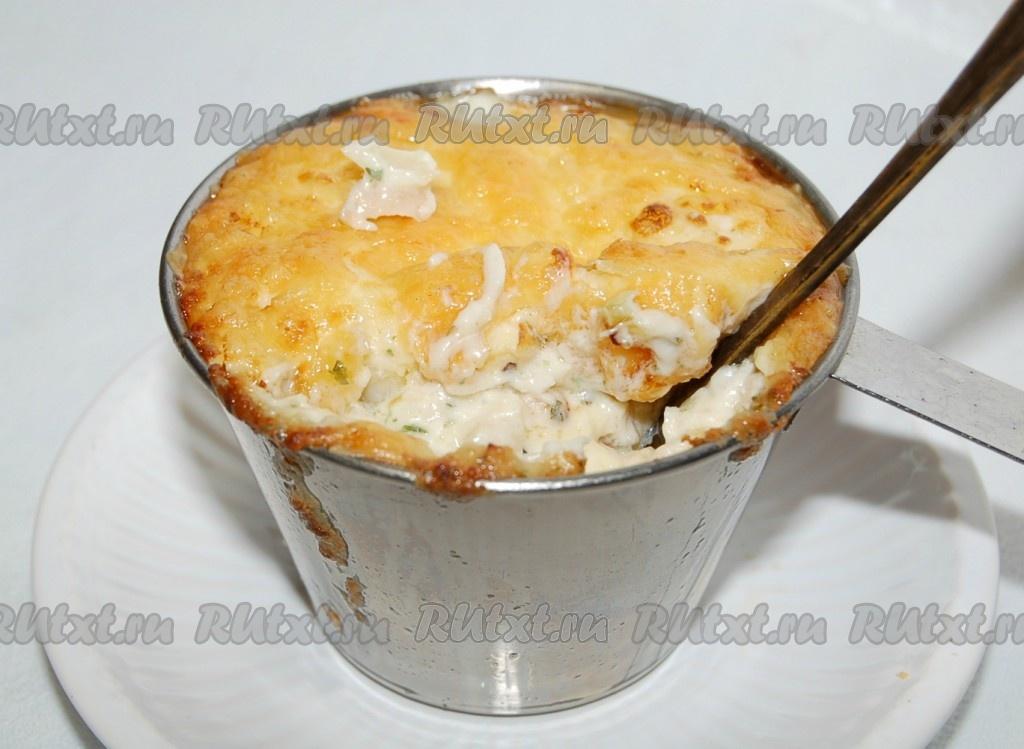 рецепт жульена с курицей и картофелем в духовке