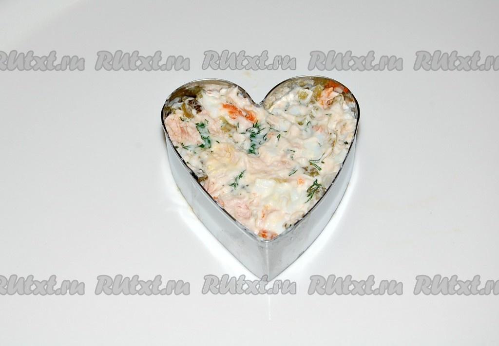 простые рецепты салатов из копченой горбуши