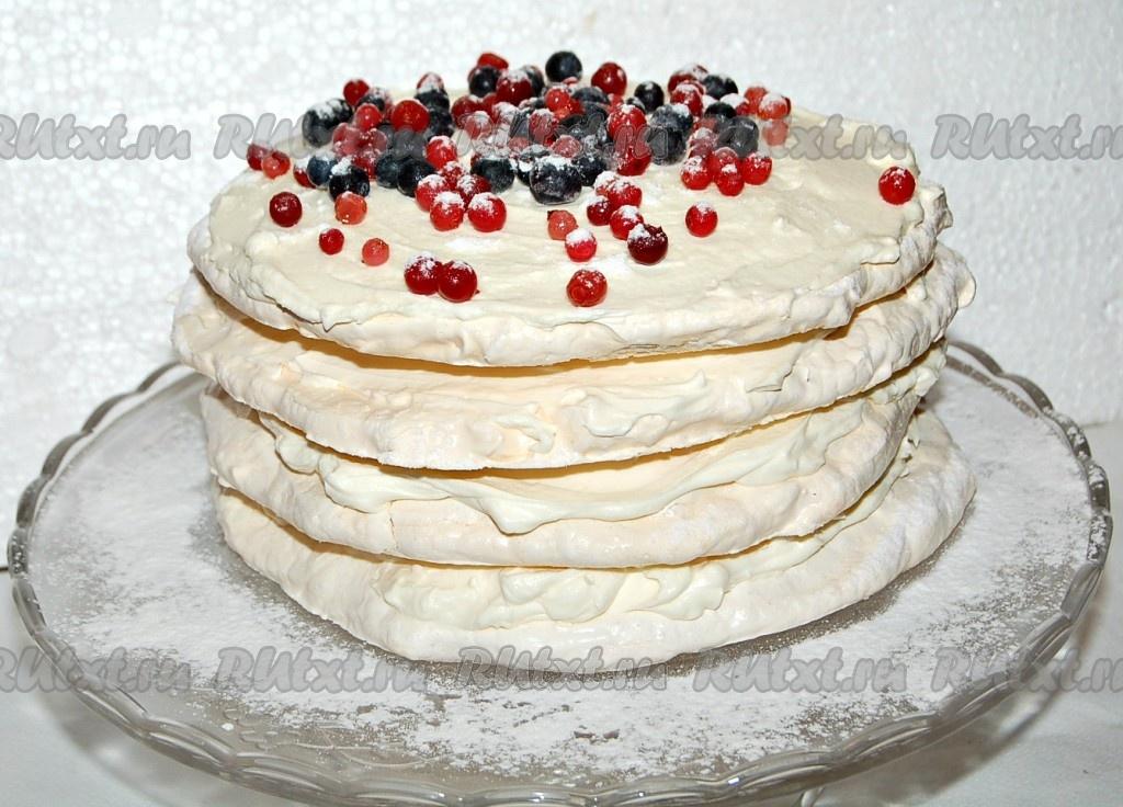 Торт с коржами из безе