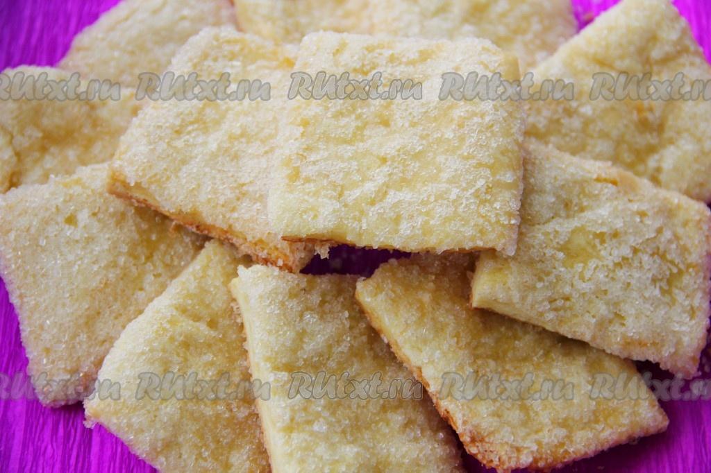 печенье с сахаром и корицей рецепт с фото пошагово в духовке