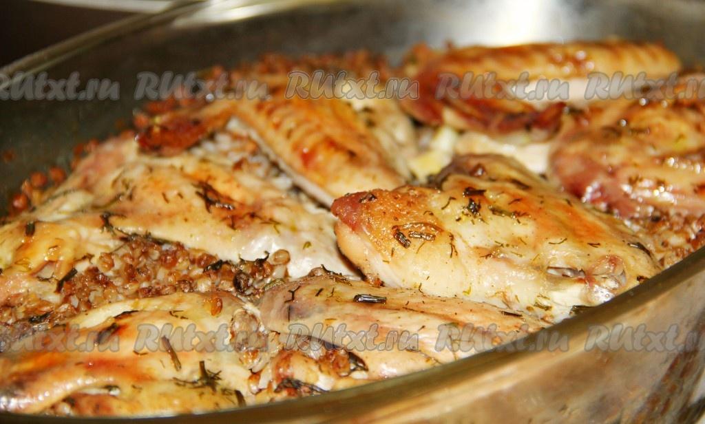 Гречка с курицей и сыром в духовке рецепт