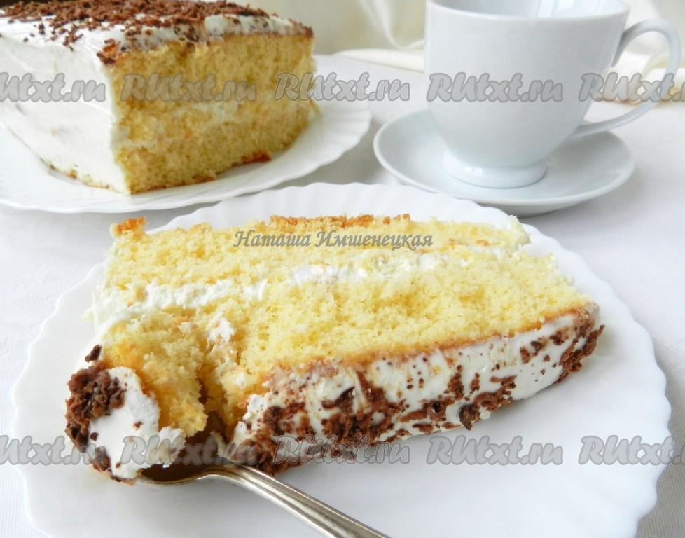 бисквитный торт рецепт с творожным кремом