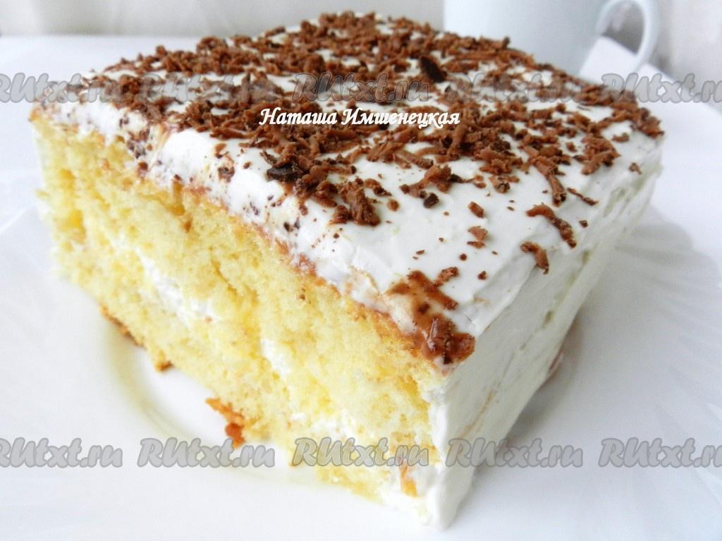 Бисквитный торт украсить натертым на